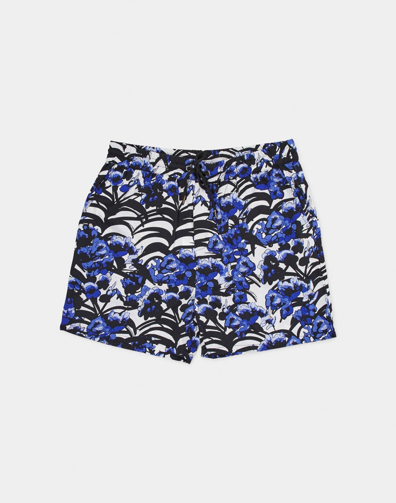The Idle Man - Floral Printed Drawstring Short