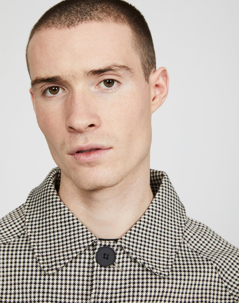 The Idle Man - Houndstooth Check Mac Black