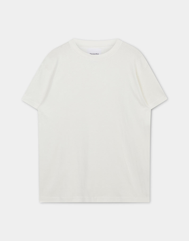 The Idle Man - Jersey Mesh T-Shirt White
