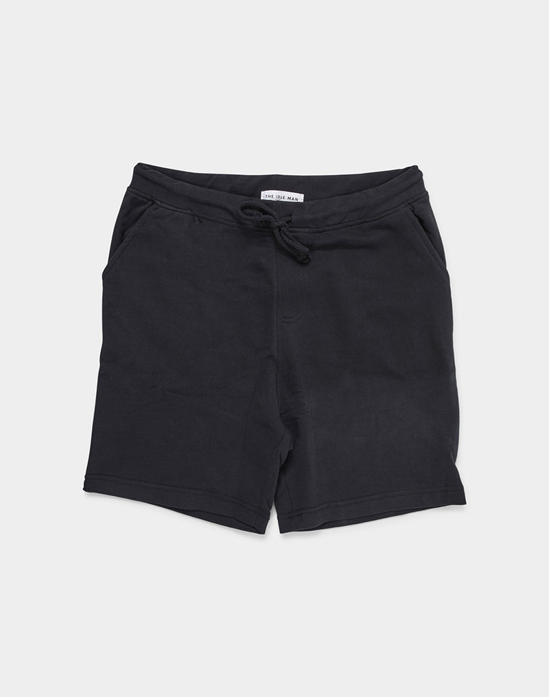 The Idle Man - Jersey Short Black