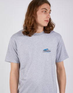The Idle Man - Speed Print T-Shirt Grey