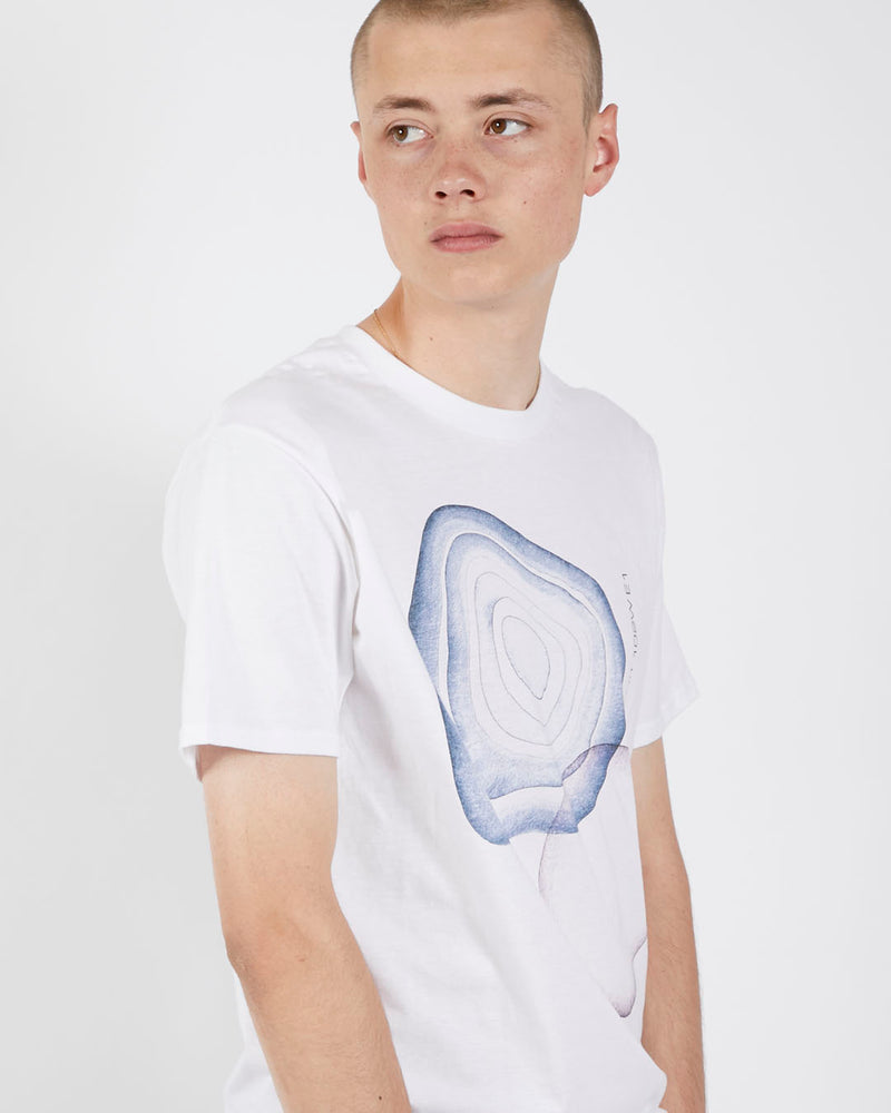 The Idle Man - J. Fish T-Shirt White & Blue