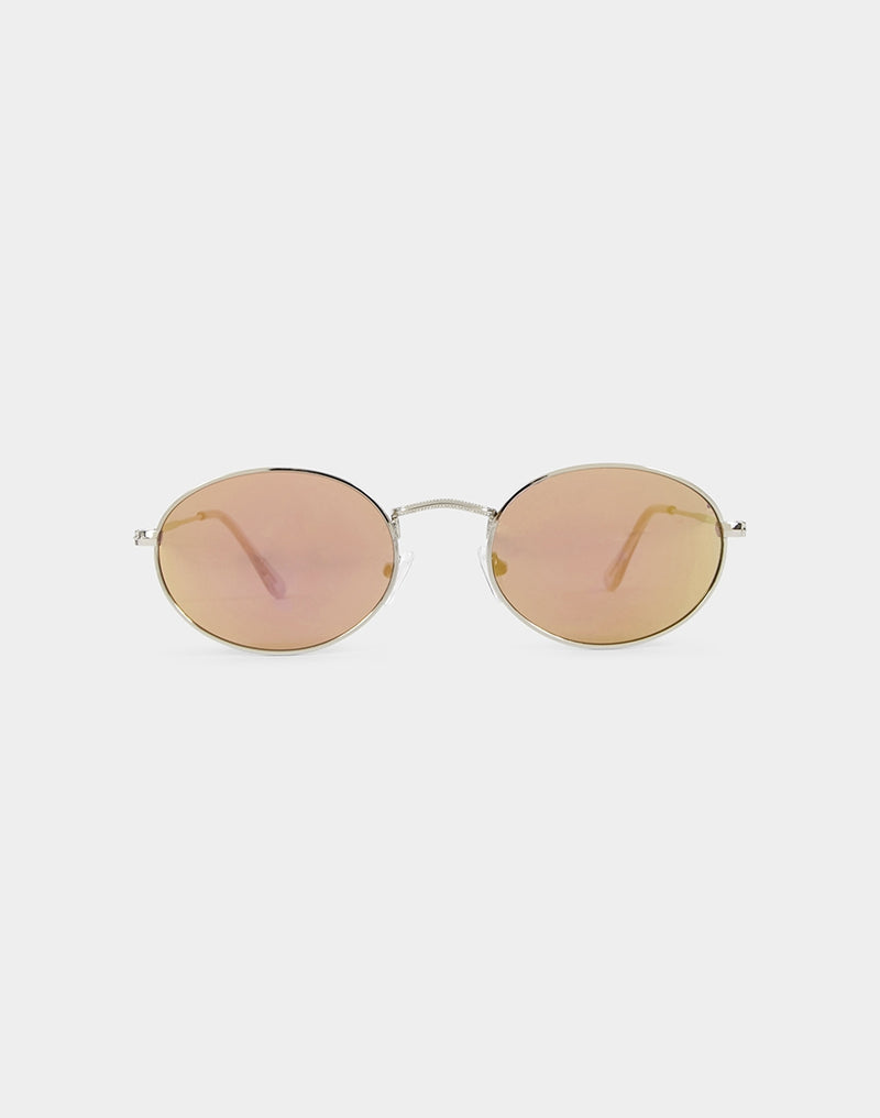The Idle Man - Leon Sunglasses Pink Mirror