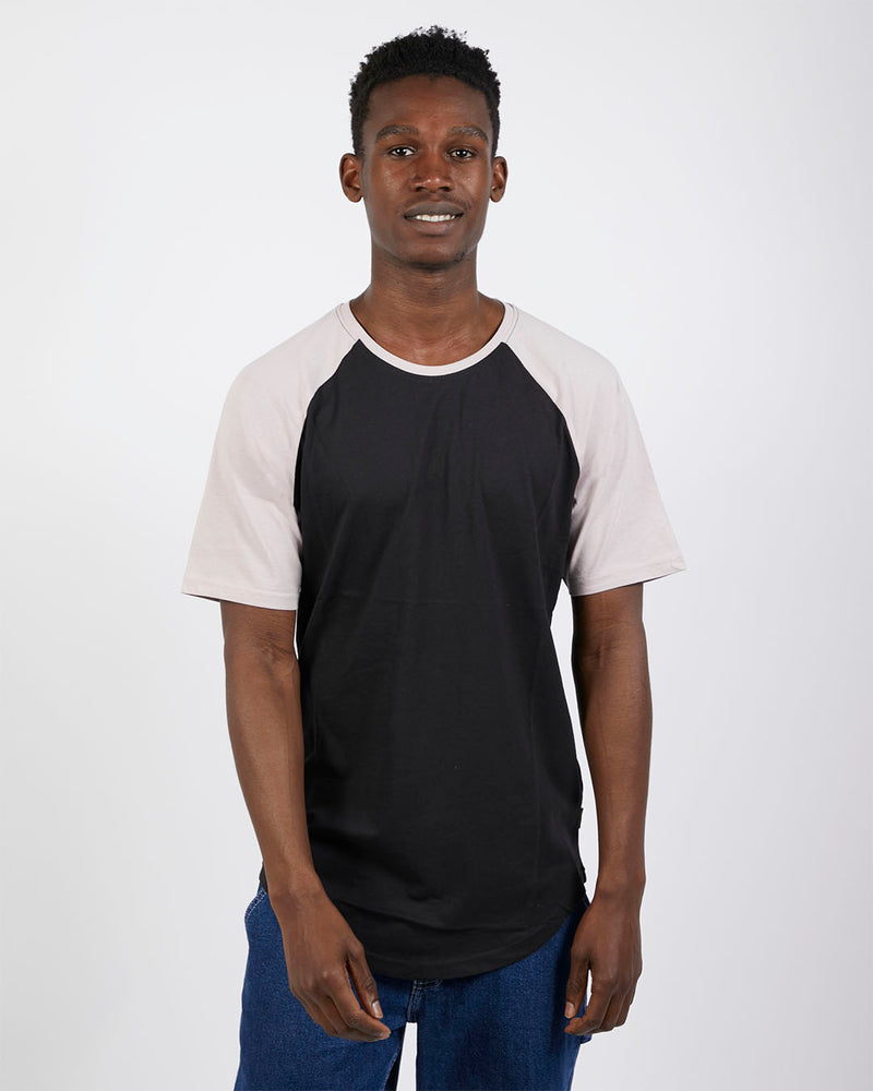 The Idle Man - Raglan T-Shirt Black