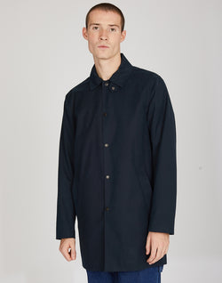 The Idle Man - Made in England Rain Mac Navy