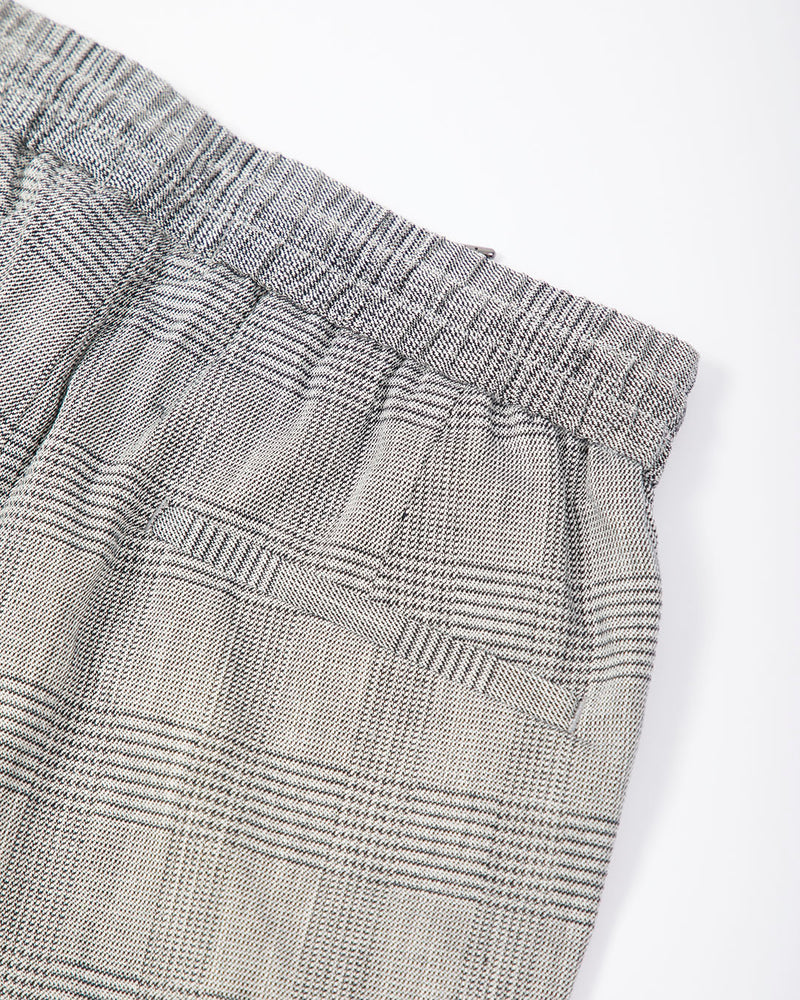 The Idle Man - Relaxed Check Short Grey