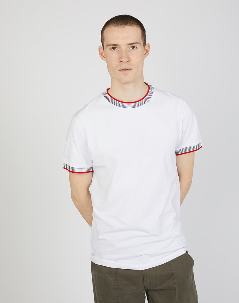 The Idle Man - Ringer Tee White