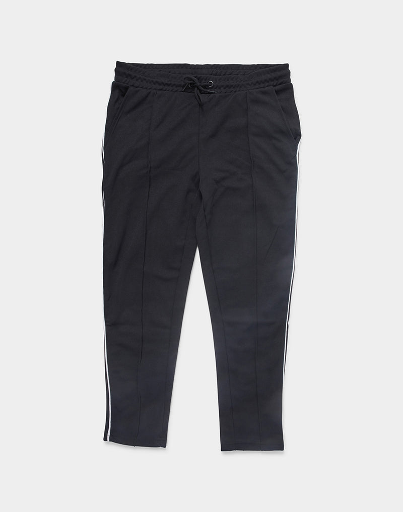 The Idle Man - Side Stripe Track Pants Black