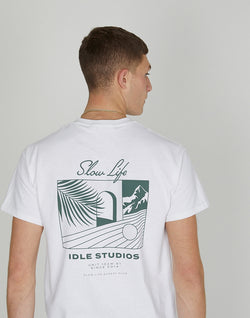 The Idle Man - Slow Studios T-Shirt White