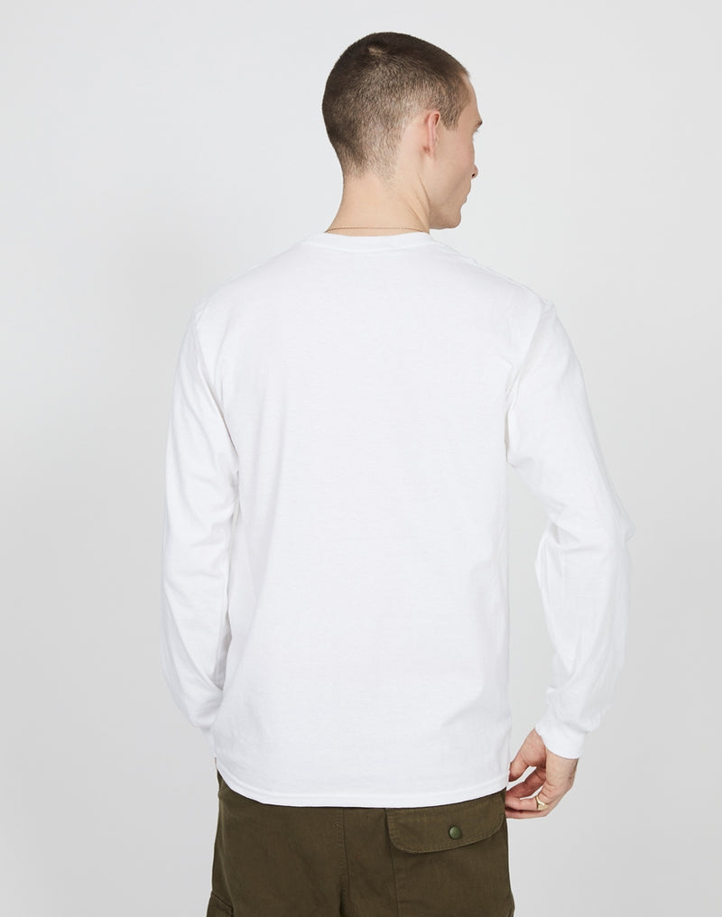 The Idle Man - slow Times L/S T-Shirt White