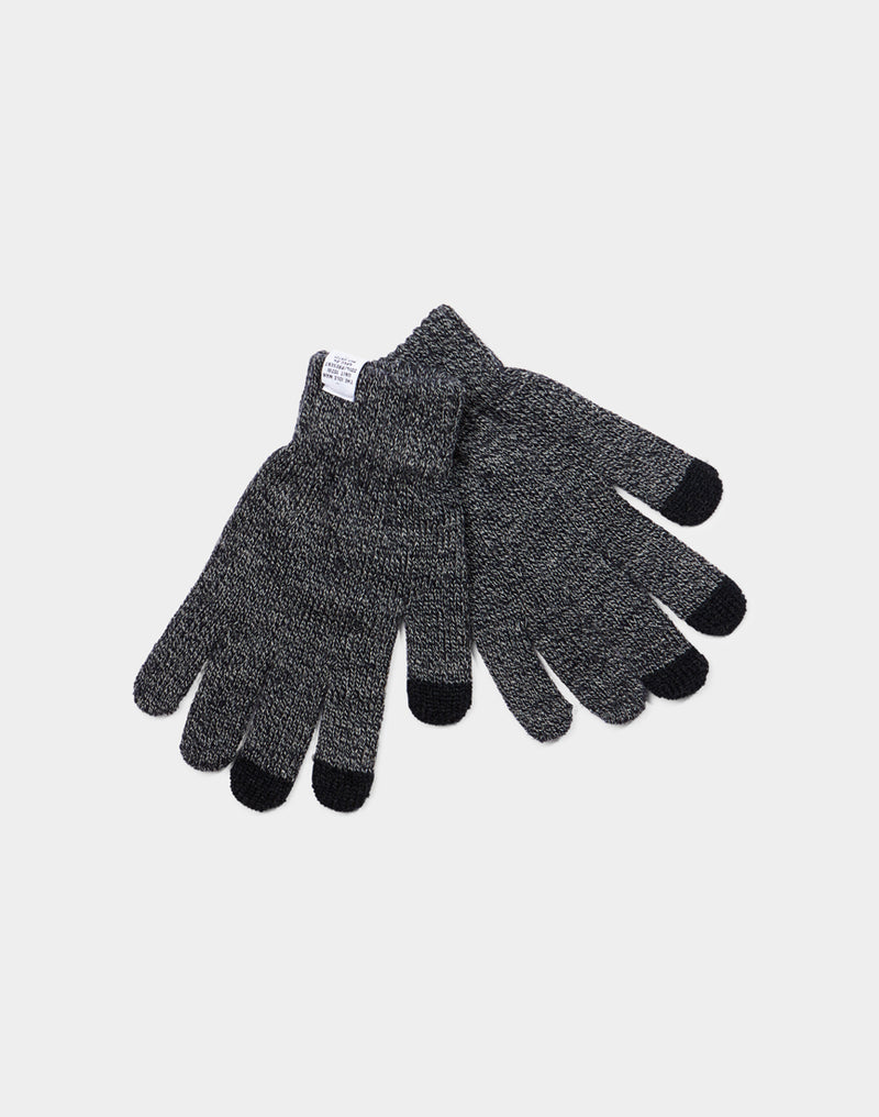 The Idle Man - Smart Touch Gloves Heather Navy