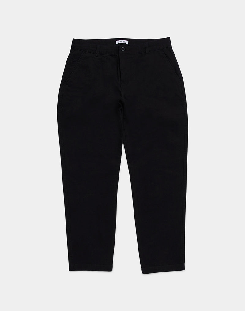 The Idle Man - Straight Fit Chino Black