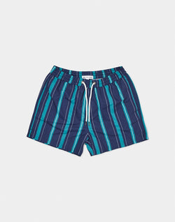 The Idle Man - Stripe Print Swim Short