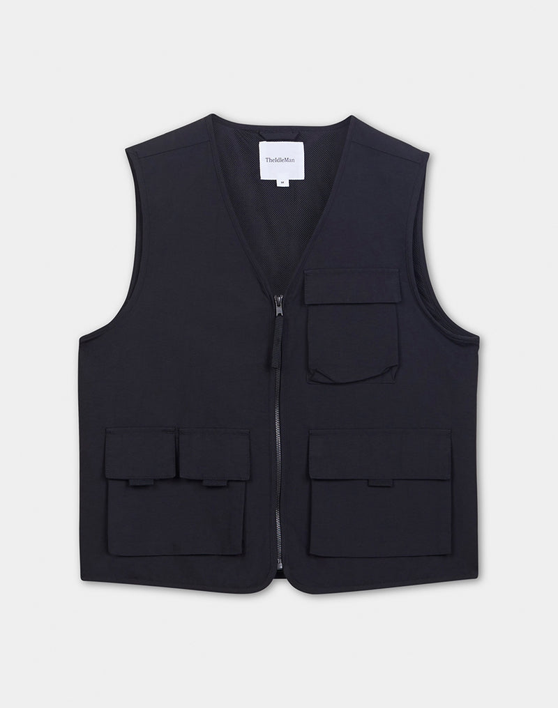 The Idle Man - Tech Gilet Black