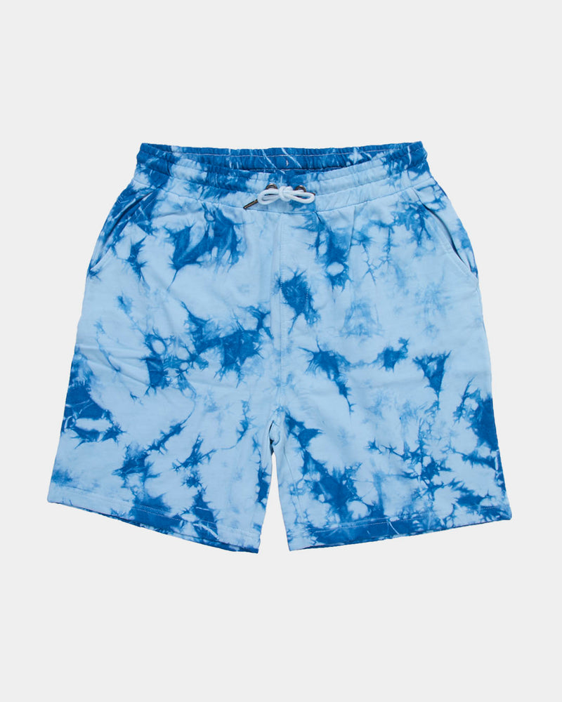 The Idle Man - Tie Dye Sweatshort Navy