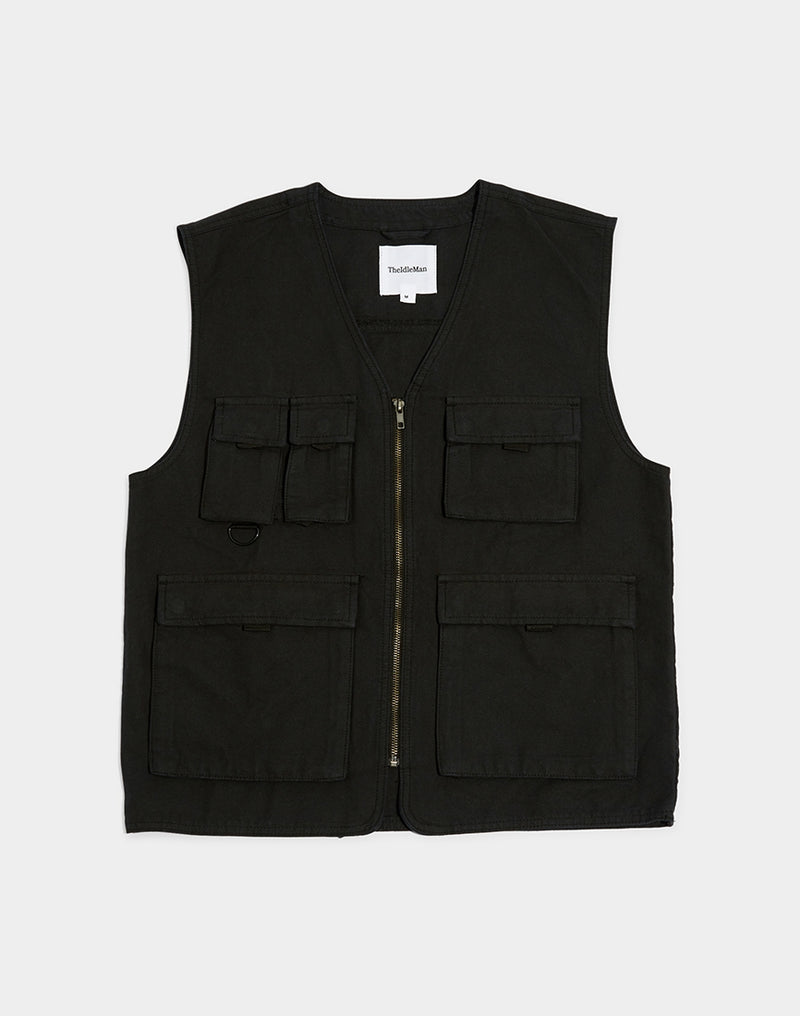 The Idle Man - Utility Vest Black