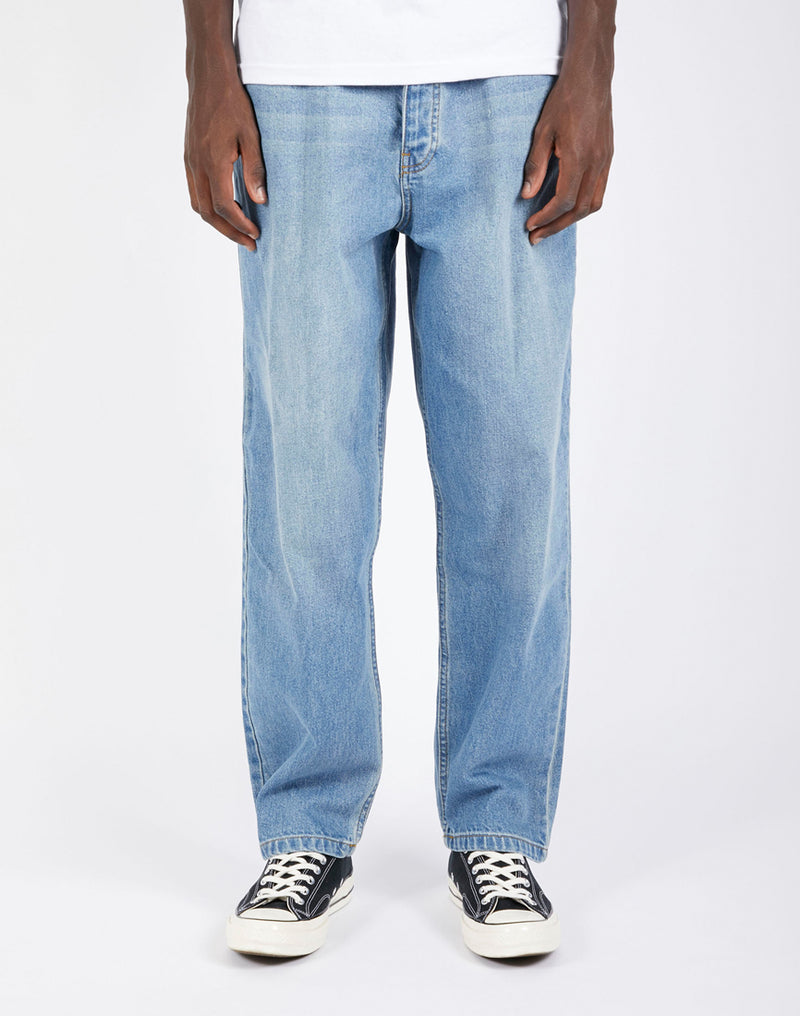 The Idle Man - Wide Leg Jean Blue