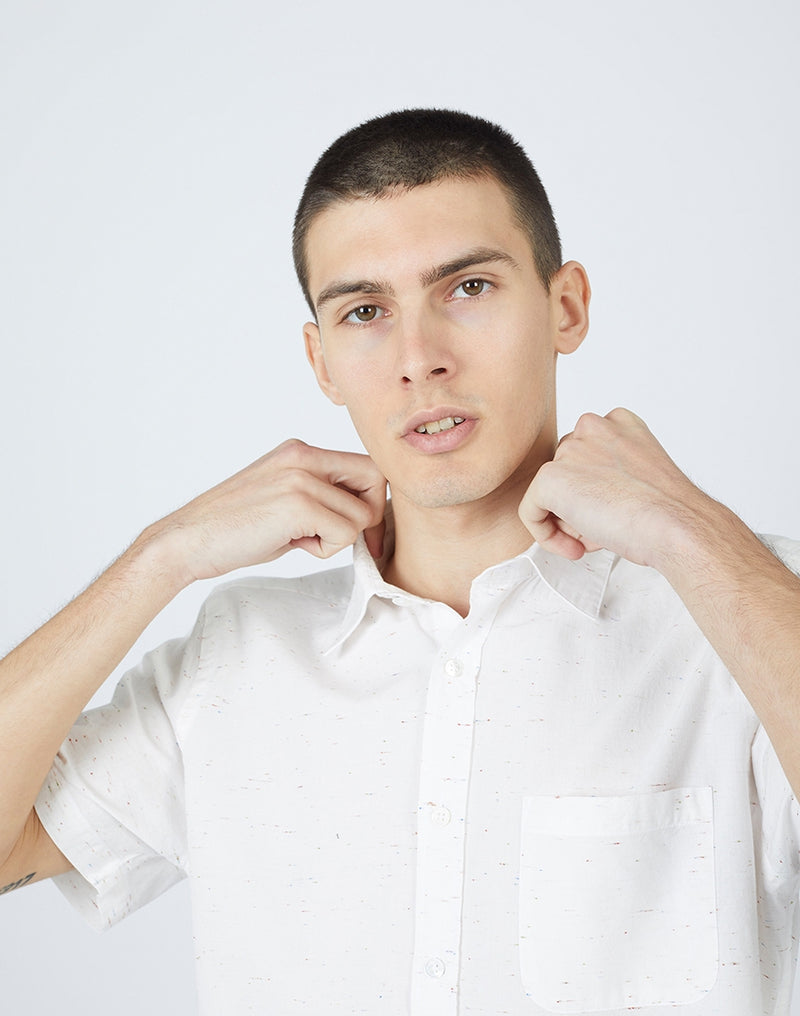 Portuguese Flannel - Ebano Short Sleeve Shirt White