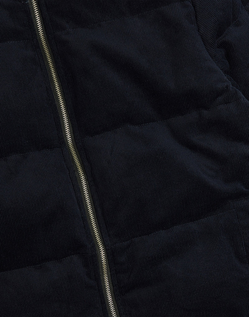 The Idle Man - Corduroy Puffer Navy