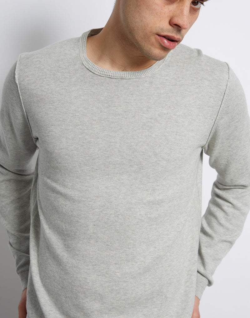The Idle Man - Detail Crew Neck Knit Grey