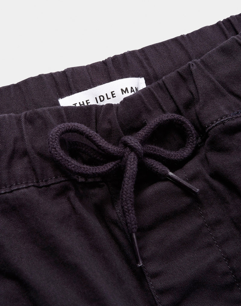 The Idle Man - Elasticated Waist Short Navy