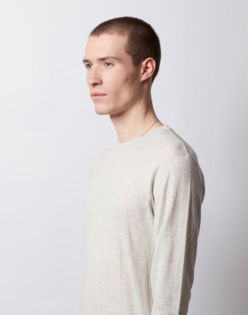The Idle Man - Long Sleeve Knitted Jumper Grey