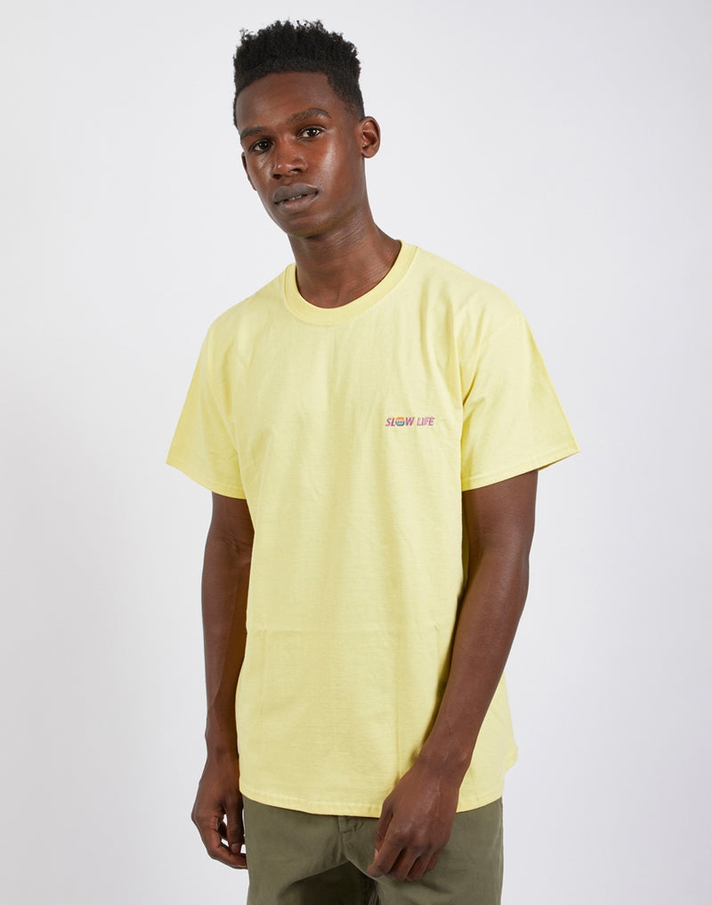 The Idle Man - Slow Life T-Shirt Yellow