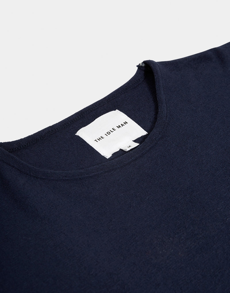 The Idle Man - Towelling T-shirt Navy