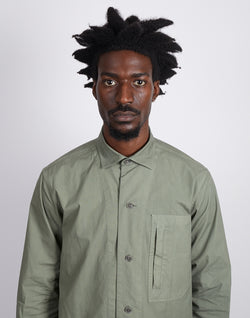 The Idle Man - Worker Overshirt Green
