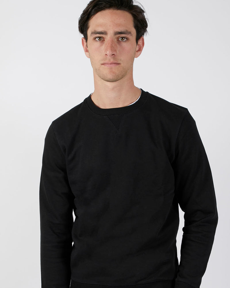 The Idle Man - Premium Heavyweight Loopback Sweatshirt Black
