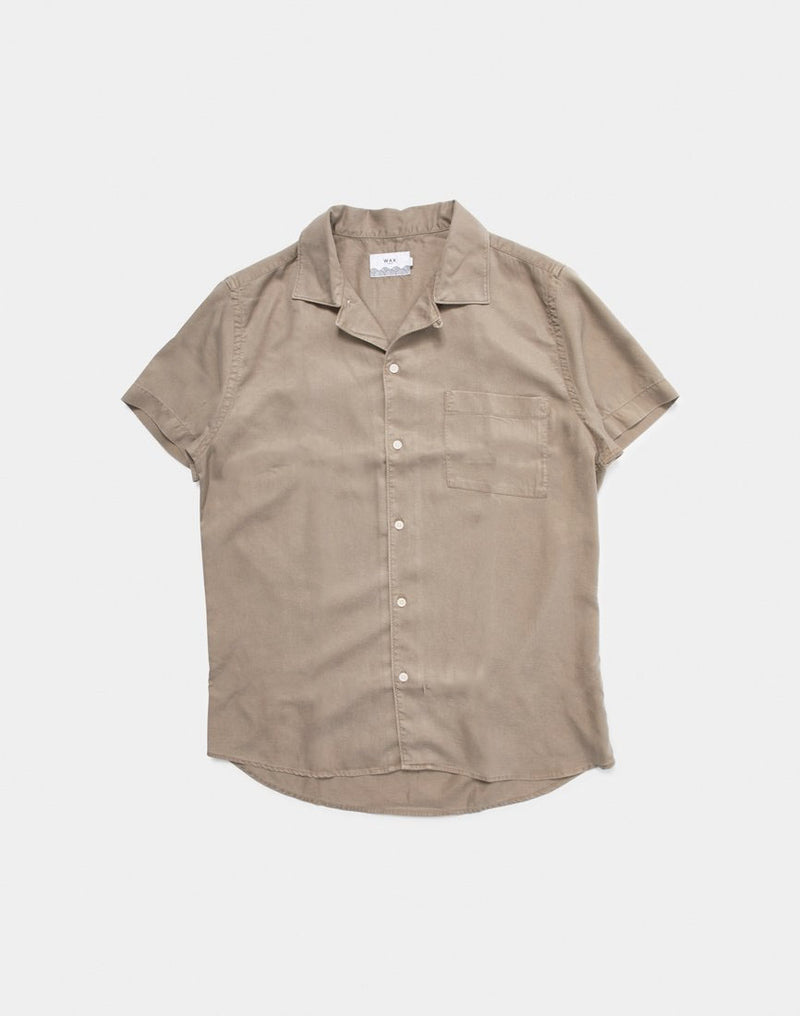 Wax London - Fazely Short Sleeve Shirt Sand