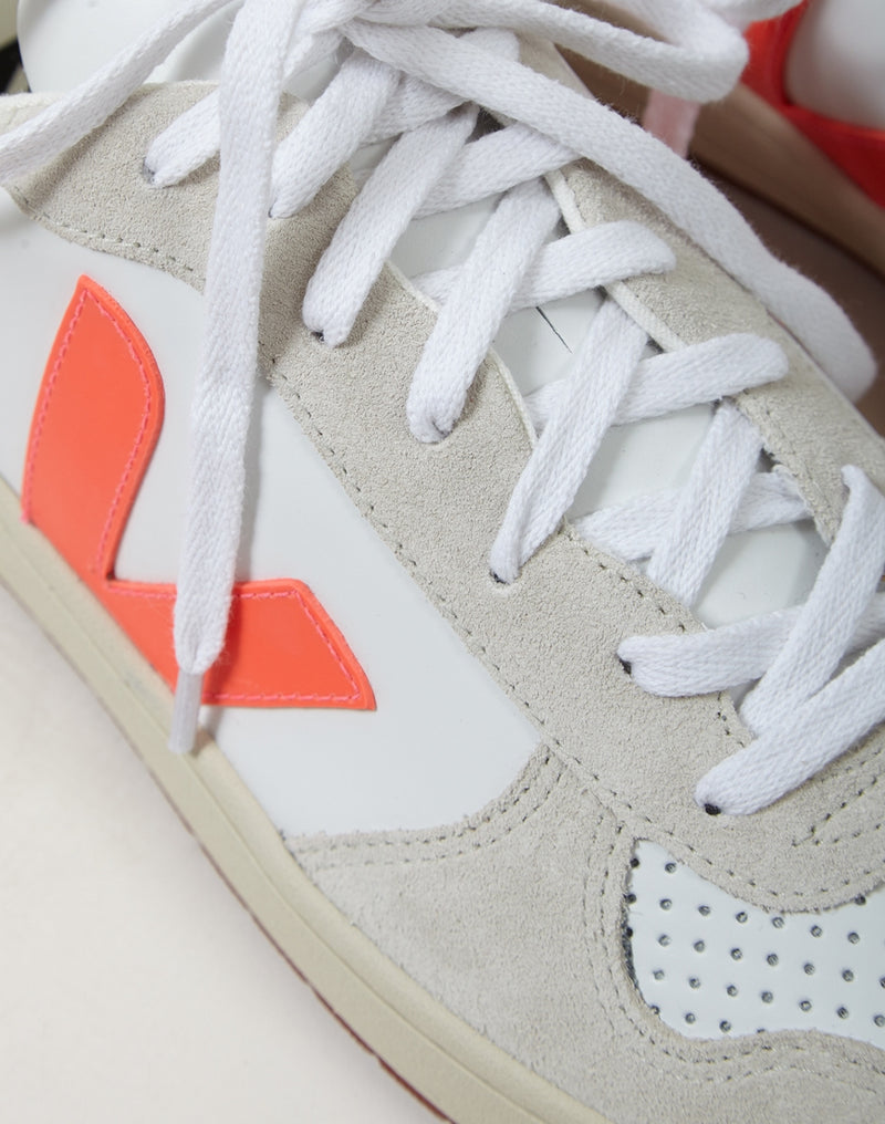 Veja - V-10 Bastille Leather Trainer White, Pink & Blue