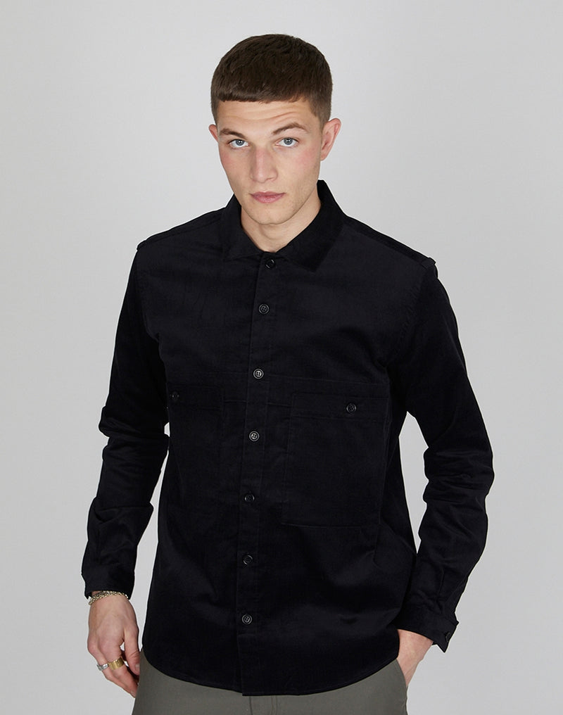 YMC - Doc Savage Babycord Shirt Black