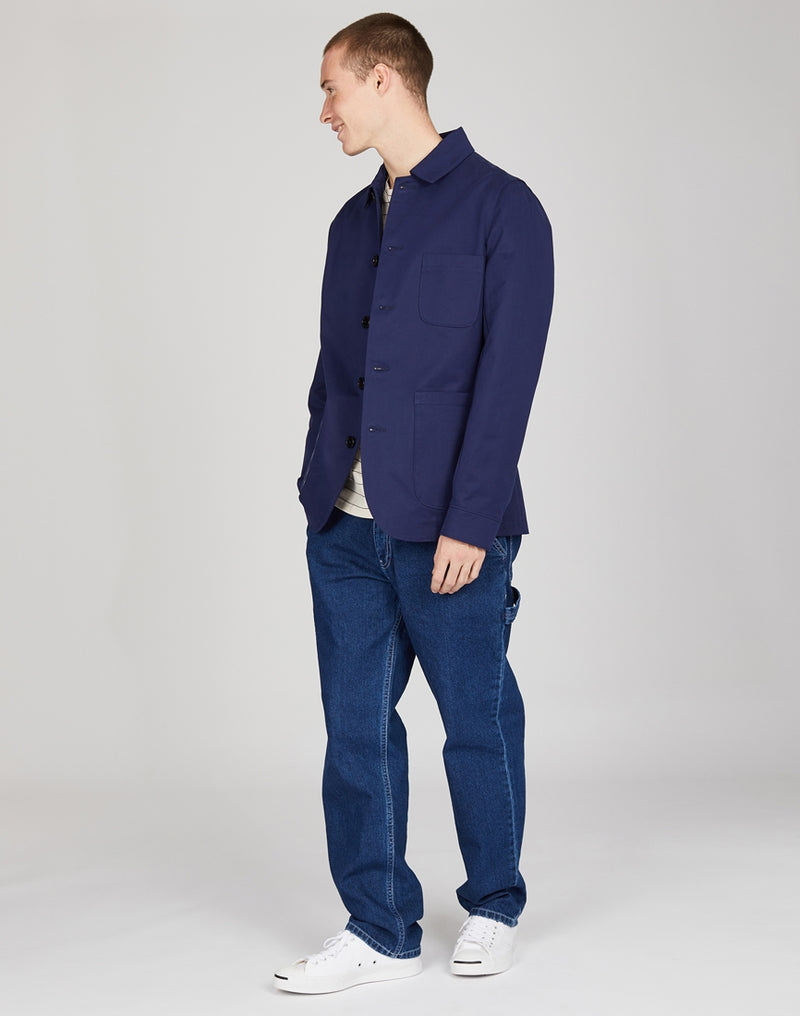 Wax London - Elland Chore Jacket Navy