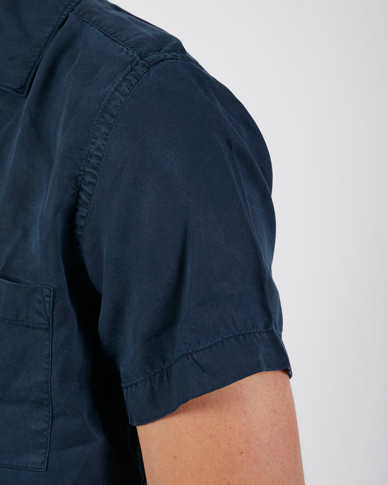 Wax London - Fazely Short Sleeve Shirt Navy