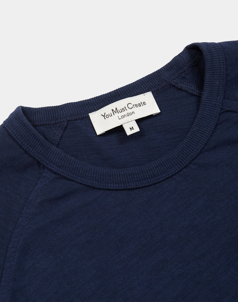 YMC - TV Raglan Tee Navy