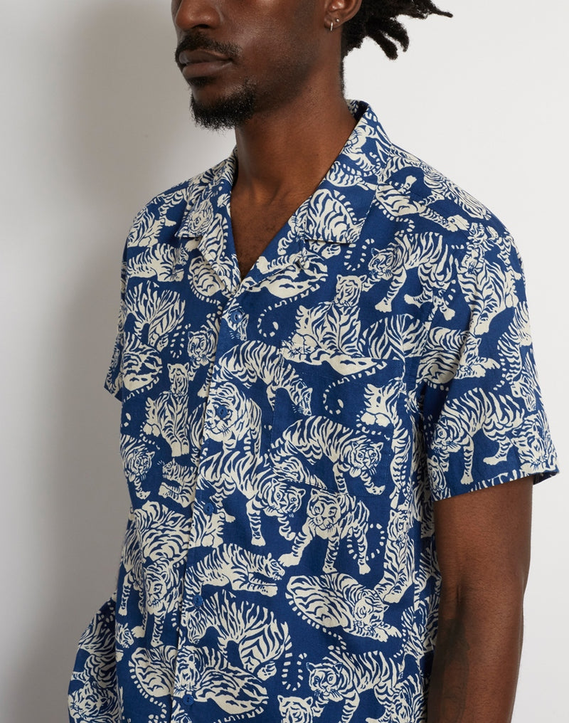 YMC - Tiger Malick Shirt Blue