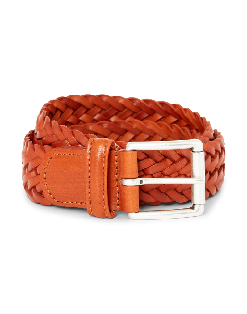 Anderson's - Leather Woven Belt Rust