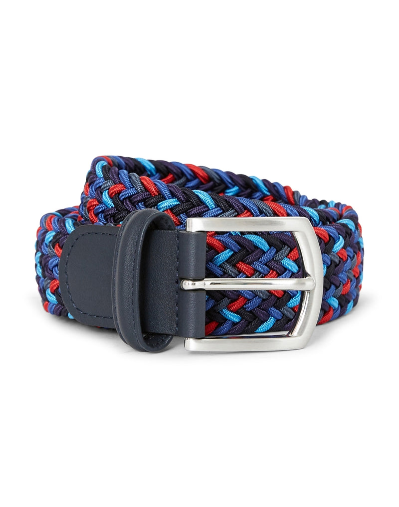 Anderson's - Woven Belt Blue Navy & Red