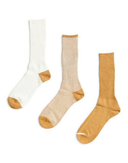 Anonymous Ism - Triple Pack Sock Gold