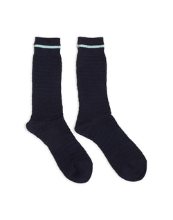 Anonymous Ism - Heavy Thurmal Crew Socks Navy with Blue Stripe