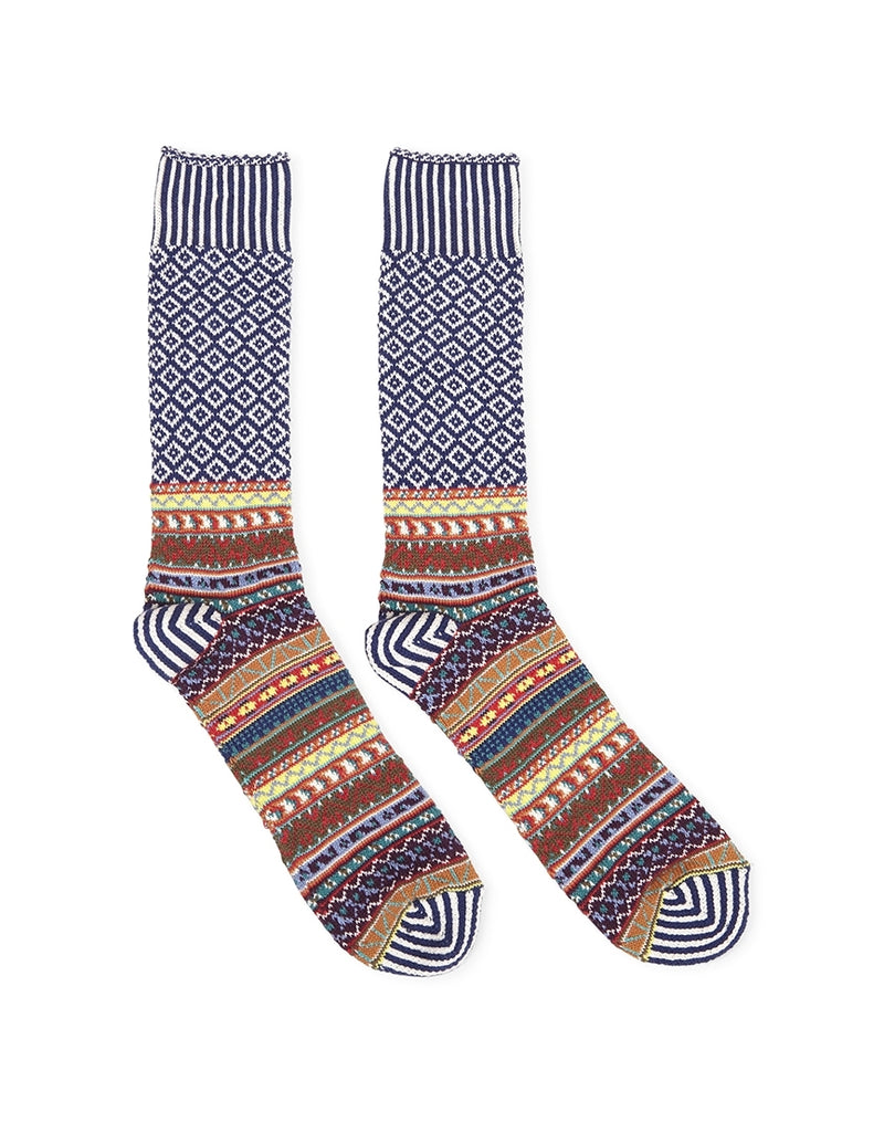 Anonymous - Ism Litanian Multi Crew Socks Navy - Navy