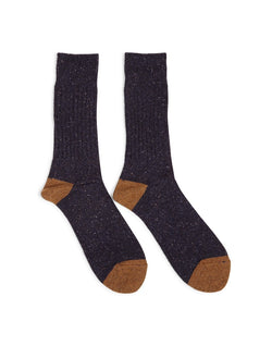 Anonymous Ism - Tweed Knuued Yarn Crew Socks Navy