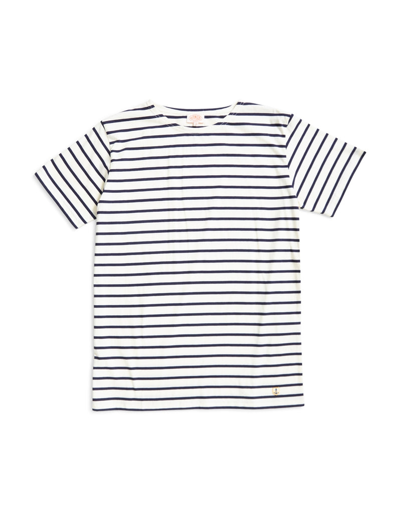 Armor Lux - Mariniere Short Sleeve Stripe T-shirt Blue