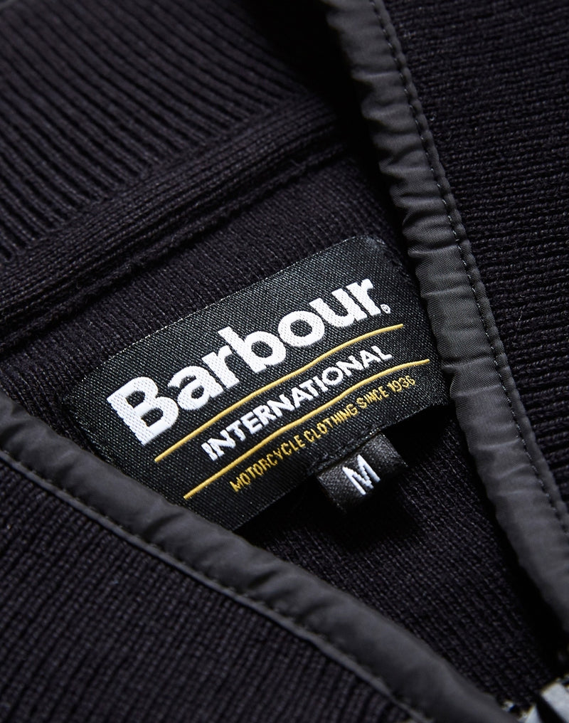 Barbour - International Baffle Zip Through Jacket Black