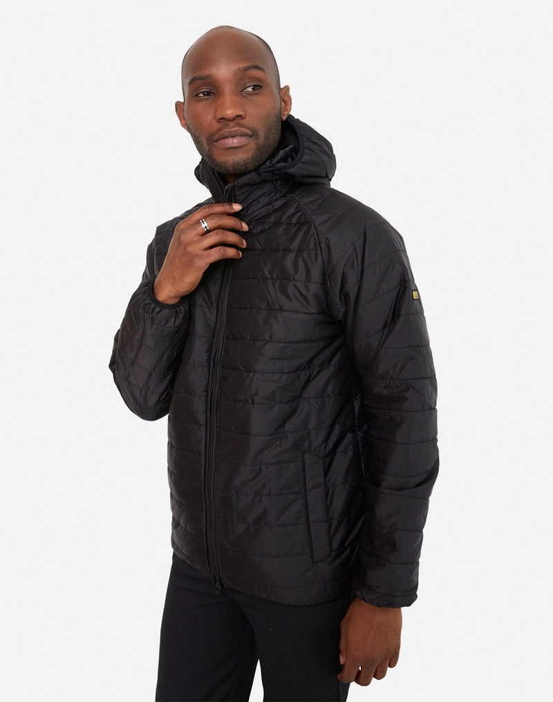 Barbour - International Level Hooded Quilted Jacket Black