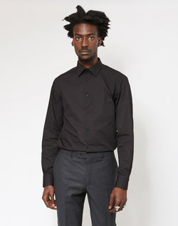 The Idle Man - Regular Smart Poplin Shirt Black