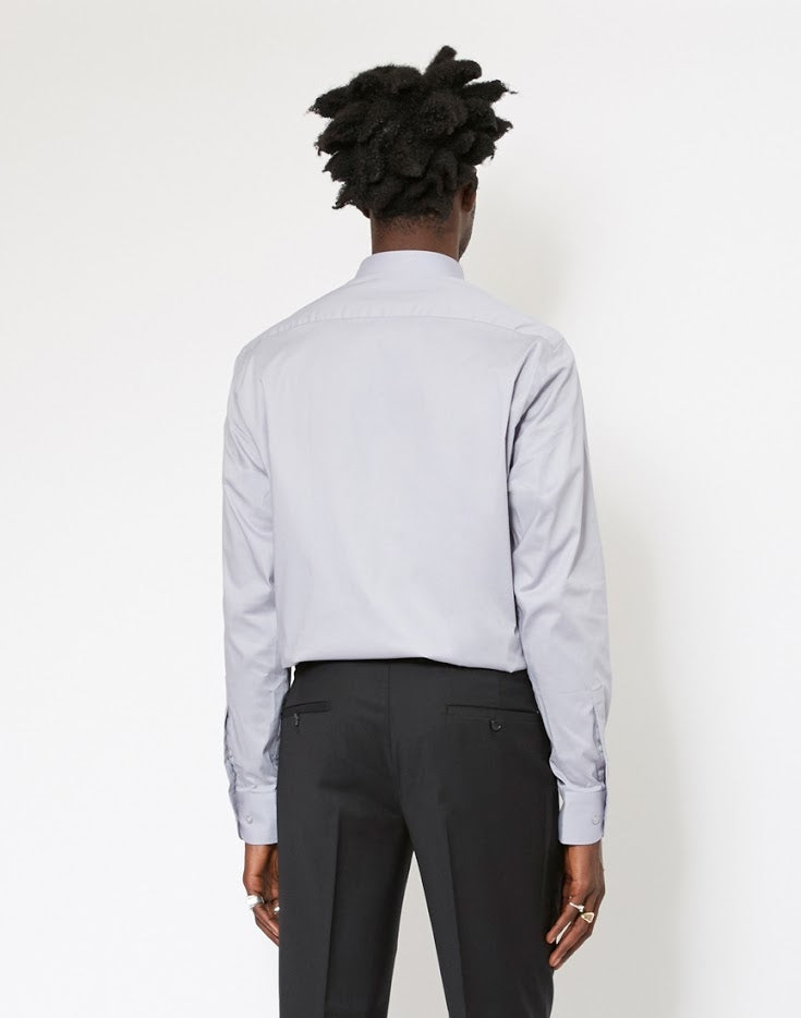 The Idle Man - Slim Stretch Shirt Grey