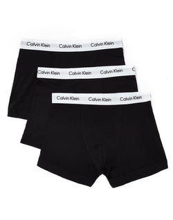 Calvin Klein - Underwear Cotton Stretch 3 Pack Trunk Black