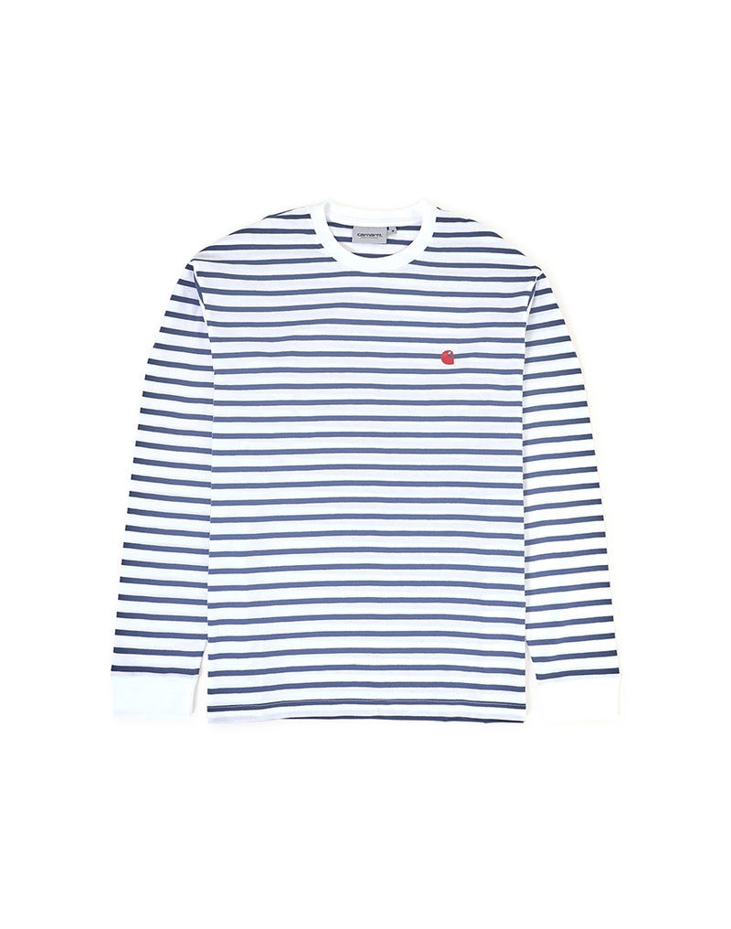 Carhartt WIP - Champ Long Sleeve Stripe T-Shirt Blue